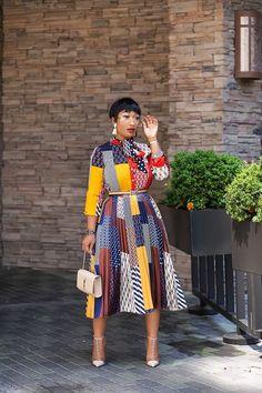 Work Fashion, Modest Fashion, Trendy Fashion, Fashion Dresses, Mix Match, Pleated Dresses, African Fashion, Women Wear, Dress Up