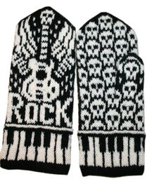 Ravelry: Let's Rock mittens pattern by Jorid Linvik for Kara Knitted Mittens Pattern, Knitted Gloves, Fair Isle Knitting, Knitting Yarn, Hand Knitting, Knitting Charts, Knitting Patterns Free, Socks, Mittens