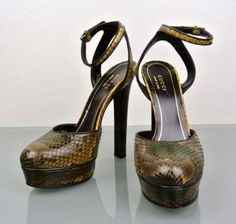"""Gucci """"huston"""" Python Platform Pumps 38/8 #277958 New Yellow Sandals. Get the must-have sandals of this season! These Gucci """"huston"""" Python Platform Pumps 38/8 #277958 New Yellow Sandals are a top 10 member favorite on Tradesy. Save on yours before they're sold out!"""