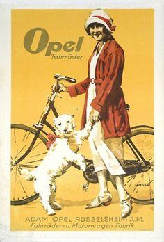 Opel bicycles (1930) by Susanlenox