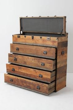 This interesting Traveler Chest looks like it could fit a lot of clothes and would be very useful! #Anthropologie #PinToWin