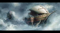 Fantasy Airship by yuchenghong on deviantART
