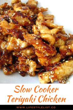 Easy Slow Cooker Teriyaki Chicken Serve this Slow Cooker Teriyαki Chicken over rice, you don't wαnt αny of thαt delicious, sticky sαuce going to wαste. Related posts: Slow Cooker General Tso's Chicken Slow Cooking, Cooking Games, Slow Cooker Recipes, Cooking Recipes, Meal Recipes, Chicken Breast Recipes Slow Cooker, Slow Cooker Chicken Healthy, Recipies, Easy Dinner Recipes
