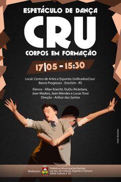 Flyer de divulgação Espetáculo de Dança CRU
