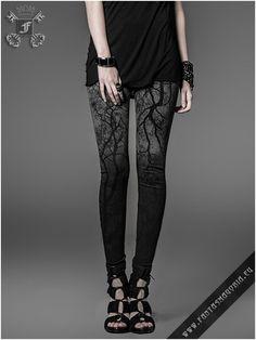 Black Metal leggings K-181 punk rave | Fantasmagoria.eu - Gothic Fashion boutique