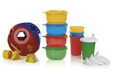 Tupperware Playdate Pack - Shape Sorter Ball, Sippy Cups and Ideal Little Bowls