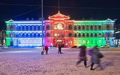 Edellisillä Lux Helsinki -festivaaleilla oli esillä myös tämä Sun Effects -kollektiivin teos Candy House.