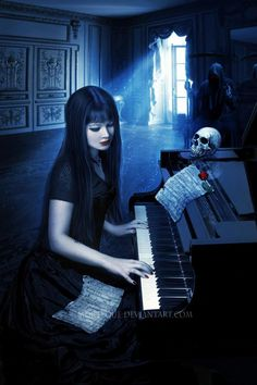 Fantasy Piano Background Wallpapers) – Free Backgrounds and Wallpapers Gothic Fantasy Art, Fantasy Women, Steampunk, Gothic Themes, Gothic Wallpaper, Theme Pictures, Arte Obscura, Goth Art, Dark Gothic