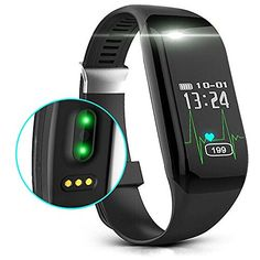 Heart Rate Monitor --- Get continuous, automatic, wrist-based heart rate and simplified heart rate zones  OLED Screen --- With OLED Screen Display, Hidden touch screen, Mini vibration alerts motor, See call notifications, daily stats and time of day  Auto sleep monitoring --- Accurate analysis of the sleeping quality , make you have a better understanding of the effects of sleep