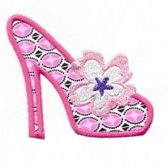 High Heel Applique 4x4 | Shoes | Machine Embroidery Designs | SWAKembroidery.com