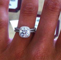 Cushion Cut Tiffany Engagement Ring