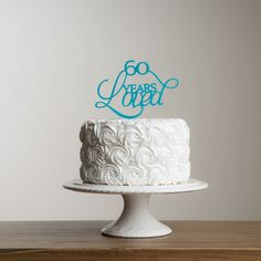 Picture of 60 Years Loved Cake Topper