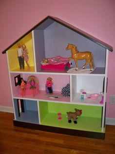 Bookcase altered and you have a 399.00 dollhouse bookcase like the one at Pottery Barn.  Love this.