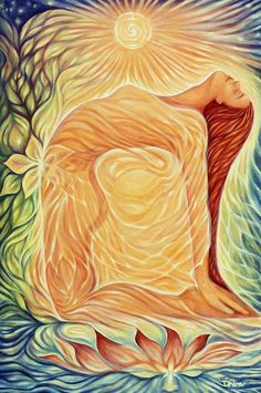 """Camel Pose is """"it"""" for opening up your sacral chakra! Camel Pose is """"it"""" for opening up your sacral chakra! Also good are cobra, triangle pose and pi Yoga Kunst, Spiritual Paintings, Goddess Art, Sacral Chakra, Chakra Healing, Yoga Art, Meditation Art, Visionary Art, Divine Feminine"""