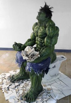Malls in Seoul, Korea let the Marvel superheroes get away with pretty much whatever they want. This crazy Hulk statue was spotted by redditor TheMistah and generously shared with all of us.  You wouldn't like him when he's constipated…  The Incredible Deuce Banner posted by TheMistah  Via: Obvious Winner | Reddit        This statue would look great on my shelf.