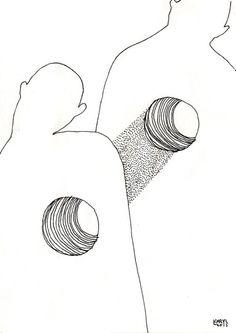 re / october 2015 / Karolina Koryl Cool line drawing Line Drawing, Painting & Drawing, Angst Im Dunkeln, Art Sketches, Art Drawings, Art Postal, Arte Indie, Arte Sketchbook, Wow Art