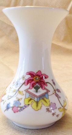 Bone China England Vase Aristocrat Floral #Aristocrat