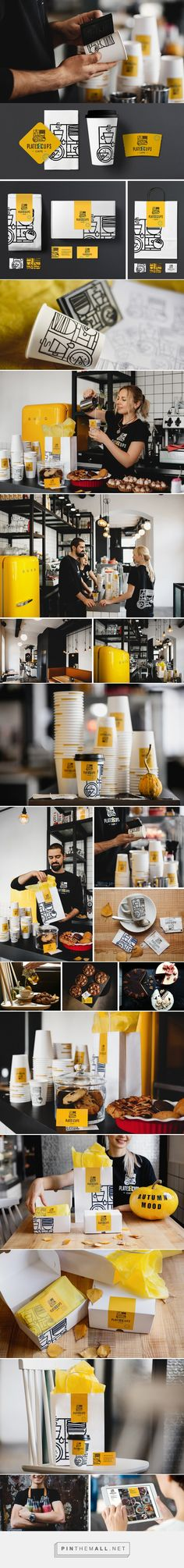 Plates&Cups Cafe Branding by Olena Fedorova   Fivestar Branding Agency – Design and Branding Agency & Curated Inspiration Gallery #cafebranding #branding #brand #packaging #design #designinspiration