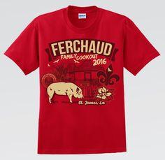 Ferchaud Family Reunion Shirt - Red Reunion Shirt Family Reunion Shirts, School Reunion, Reunions, Red, Mens Tops, Design