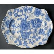 Johnson Brothers Platter of Blue Flowers, English Chippendale ?