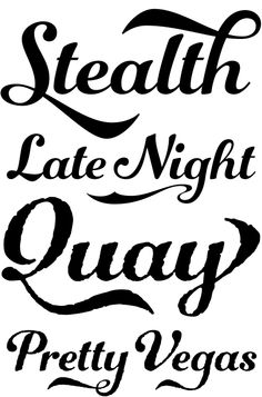 Showcard font from Sign Painter Kit by House Industries