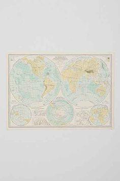 Tina Crespo Maps Art Print - Urban Outfitters