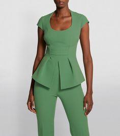 Safiyaa, Savile Row, Wide Leg Trousers, Harrods, Evening Gowns, Favorite Color, Peplum Dress, Jumpsuit