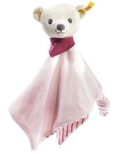 Steiff EAN 238901 Knuffi Teddy Bear Comforter Pink