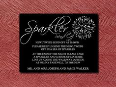 Custom Designed Wedding Sparkler Send Off Sign by WeddingsByJamie, $12.00