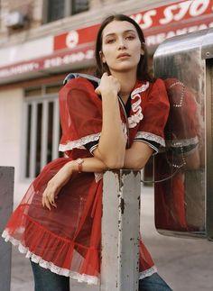 Bella Hadid by Dan Martensen in US Elle February 2016 has got me in all sorts of awe!