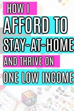 The best tips, tricks and ideas on How to Afford to be a Stay at Home Mom on One Income. How to thrive and save money while living frugally on one income. Everything you need to know to learn how to stay at home with your kids. Even if you have a small or Living On A Budget, Frugal Living Tips, Stay At Home Mom, Make Money From Home, Ways To Save Money, Money Tips, Money Hacks, Money Savers, Money Saving Mom