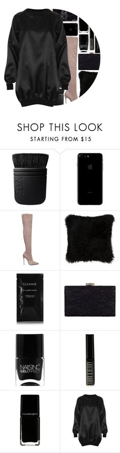 """""""NYE dress under $50"""" by maevekaterina ❤ liked on Polyvore featuring NARS Cosmetics, Le Silla, Natural by Lifestyle Group, Cleanse by Lauren Napier, Chesca, Nails Inc., Lord & Berry and The Ragged Priest"""