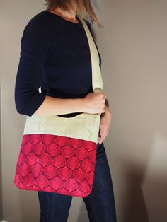 Brooklyn Bag Ginseng Cross body Mail Sack by stitch248 on Etsy, $50.00