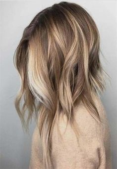 Long hair styles, Hair color Ombre hair color, Hair color, Hair, Hair styles - These 45 short bob hairstyles are worth trying Hairstyle - Hair Color 2018, Ombre Hair Color, Hair Color Balayage, Blonde Color, Cool Hair Color, Ombre Highlights, Blonde Shades, Gold Blonde, Darker Roots Blonde Hair