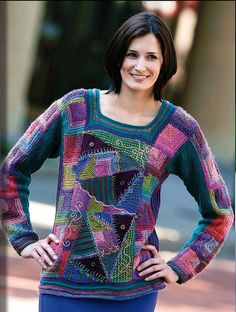 Just found Myra Wood on Ravelry and Flickr. So inspiring. This photo links to her flickr album. Krazy Kurti  from Knitters Magazine K103, Summer 2011