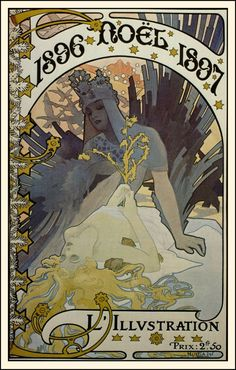 """Alphonse Mucha ~ Click through the large version for a full-screen view (with a black background in Firefox). Set your computer for full-screen. ~ Mik's Pics """"Alphonse Mucha l"""" board Art Decor, New Art, Vintage Art, Art Nouveau Mucha, Painting, Illustration Art, Poster Art, Art Deco, Alphonse Mucha Art"""