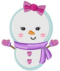 Snow Girl machine embroidery design from embroiderydesigns.com Little Girls Coats, Snow Girl, Cute Snowman, All Design, Machine Embroidery Designs, 4x4, Hello Kitty, Stitch, Winter