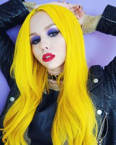 Human Hair Yellow Straight Lace Front Wigs for Women – Preferred Hair – Human Ha… – Anora Medland - Space Mint Hair, Neon Hair, Purple Hair, Yellow Hair Color, Hair Colors, Straight Lace Front Wigs, Mellow Yellow, Yellow Sun, Hair Lengths