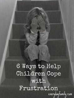 6 ways to help children when they are frustrated.  This would be great to send home with parents!