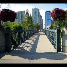 Footbridge Community Space, Photography Photos, Calgary, Sidewalk, Spaces, Board, Walkway, Sign, Walkways