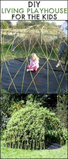 Help Kids Understand Nature by Growing a Living Playhouse