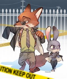 Zootopia - Nick Wilde x Judy Hopps - Wildehopps Disney Au, Cute Disney, Disney And Dreamworks, Disney Pixar, Disney Stuff, Walt Disney, Disney Characters, Zootopia Nick Wilde, Zootopia Nick And Judy