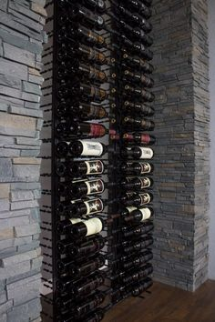 Perfect for creating wine collection display Off the wall on metal floor standing wine rack 2 Sided Display. Easy to Install. Wine Bottle Storage, Wine Bottle Holders, Wine Racks, Banana Wine, Standing Wine Rack, Metal Floor, Types Of Wine, Expensive Wine, Cheap Wine