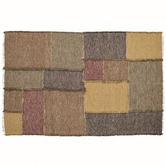 The Kendrick Patchwork Rug is an all-cotton, rustic and lodge piece that's sure to charm any room or getaway. Irregular sized patch blocks of greens, dark red, tan and grey distinguish the Kendrick rug. Each end is fringed to complete the rustic look.