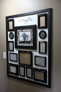 Family tree picture frame cluster - Drab to Fab