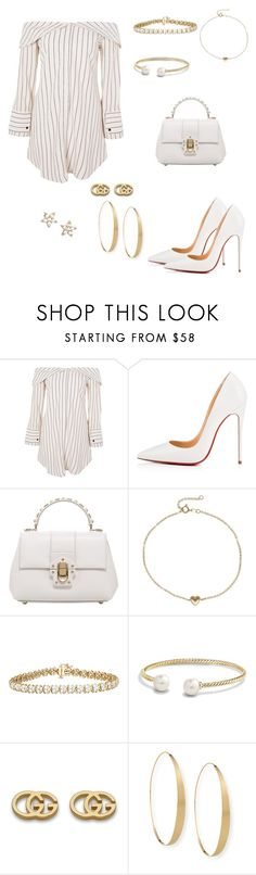 """Movie Star"" by lemonsandroses on Polyvore featuring Topshop, Christian Louboutin, Dolce&Gabbana, David Yurman, Gucci, Lana and Estella Bartlett"