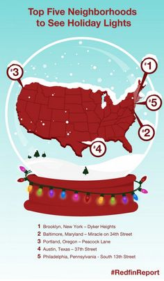 Top Five Neighborhoods to See Holiday Lights in the U.S. I wish I was close enough to visit any of them.