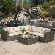 Shop for Santa Rosa Outdoor 6-piece Wicker Seating Sectional Set with Sunbrella Cushi by Christopher Knight Home. Get free delivery at Overstock.com - Your Online Garden