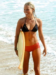 """Anne Marie Chadwick, """"Blue Crush"""" 2002: Played by Kate Bosworth, Anne Marie is the ultimate incarnation of a cool surfer girl... tough, independent, and determined to win Pipe, all the while struggling with issues of family, romance, and lack of finances... She also walks around in a bikini basically the whole movie, inspiring me and thousands of other girls to want to whip our asses into some serious shape."""