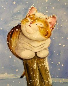Natale e Porcellane: Gattini sotto la neve